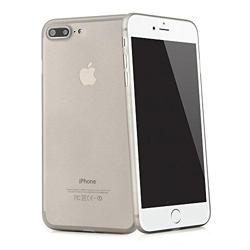 """iPhone 8 Plus / iPhone 7 Plus (5,5"""") Ultra Slim Case - Schutzhülle - """"Gracili"""" in Schwarz - Ultra dünne Hülle mit Kameraschutz- Leicht transparentes Case mit Rundumschutz - Extrem dünnes Etui als prem Grau"""