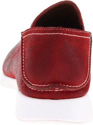 Hush Puppies Mens Five-Base Slip-On Red Suede