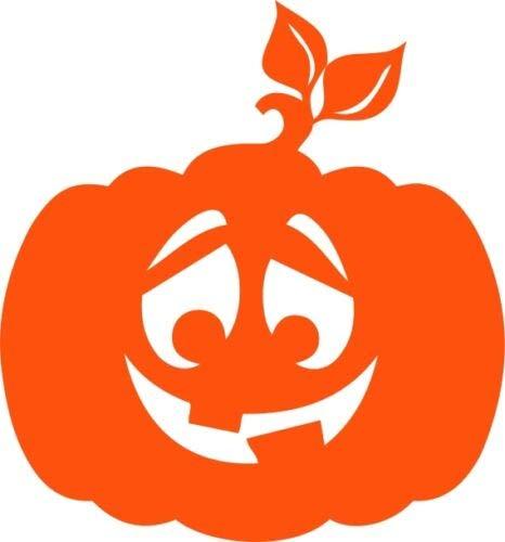 Happy Halloween Kürbis Dekor Vinyl Aufkleber Wandaufkleber Fenster Jack O Laterne (Halloween The Happy Winnie Pooh)
