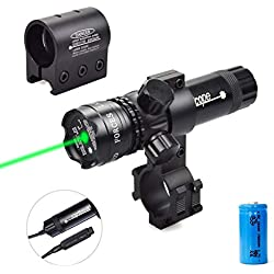 Viiko Laser Viseur Vert portée Pointeur de Vue 2 Interrupteur kit Puissant pour Fusil Pistolet avec Monture Picatinny Weaver Barral Monture en tonneau