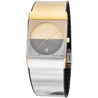 Jacob Jensen 513 – Reloj de Caballero de Cuarzo, Correa de Goma Color