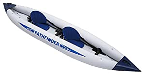 Jilong Sport Pathfinder Kayak Canoa Gonfiabile Doppio, Grigio, 400/90 cm
