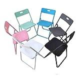 DLDL Faltender Büro-stapelbarer Stuhl, pp.-Plastik gepolsterter Speisensitz, zufälliger Computerkonferenz-Stuhl, Satz von 6 (Farbe : White x6)