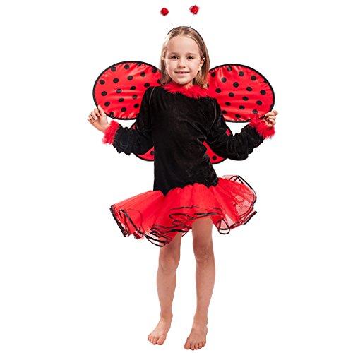 arienkäfer Kostüm Käfer Kleid mit Kopfschmuck, Flügel für Theater und Karneval (Lady Käfer Kostüm)