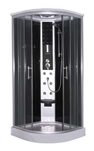Sano Technologie Quick Line complet pour cabine de douche Scala–Couleur: Noir–SSV: Seulement Stocks.