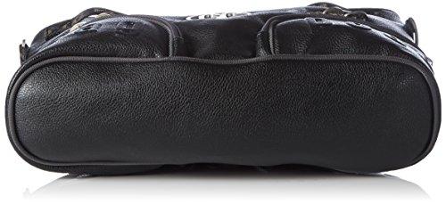 Poodlebag Rügen 3GC0815RUEGWG Unisex-Erwachsene Schultertaschen 32x32x10 cm (B x H x T) Schwarz (Black)