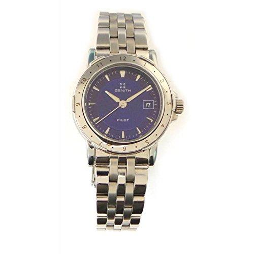 Uhr Zenith Damen FCY _ 4021805146Quarz (Batterie) Stahl Quandrante blau Armband Stahl
