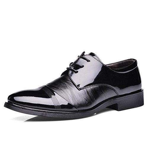 HYLM Scarpe di cuoio business casual wedding i pattini party I nuovi uomini Black