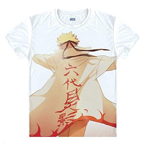 Naruto Uzumaki Naruto T-Shirt Kostüm (Naruto Kostüm Cosplay Uzumaki)