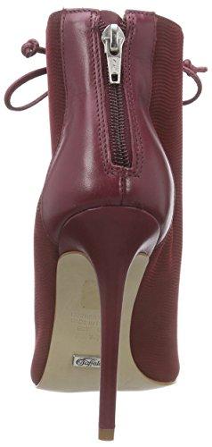 Buffalo London Zs 4887-15 Semi Cromo No Poin Damen Kurzschaft Stiefel Rot (WINE 35)