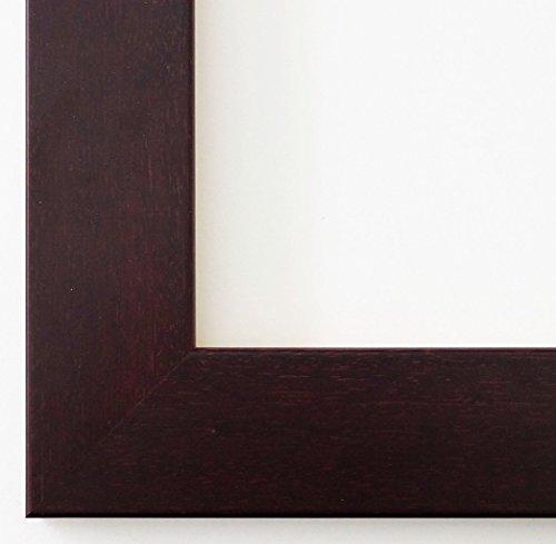 Spiegel Wandspiegel Badspiegel Flurspiegel Garderobenspiegel - Über 200 Größen - Florenz Braun Rot 4,0 - Außenmaß des Spiegels 50 x 60 - Wunschmaße auf Anfrage - Antik, Barock