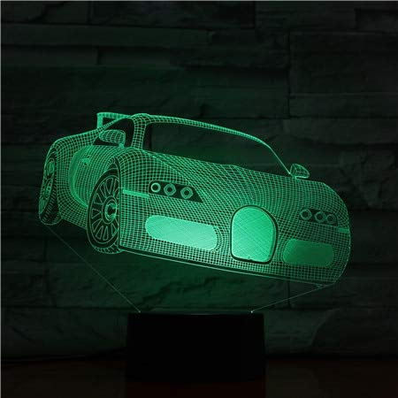 Wallfia Illusionslampe Ab Werk Preis LED Nachtlicht Geschenk Auto Bild Touch Sensor Kinder Farbwechsel Kinder Geburtstagsgeschenk 3D Größe Lampe