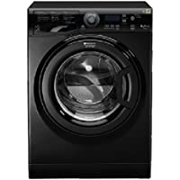 Hotpoint WMF 823K FR Autonome Charge avant 8kg 1200tr/min A+++ Noir machine à laver - Machines à laver (Autonome, Charge avant, Noir, boutons, Rotatif, Gauche, LED)