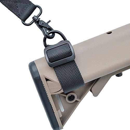 2 PCS Hinterschaftschlinge Buttstock Sling Adapter Gunstock Schlinge Gunstock Befestigungs für Gewehre, Schrotflinten, Airsoft zum Befestigen von 1-Punkt-Schlingen oder 2-Punkt-Gewehrschlingen -