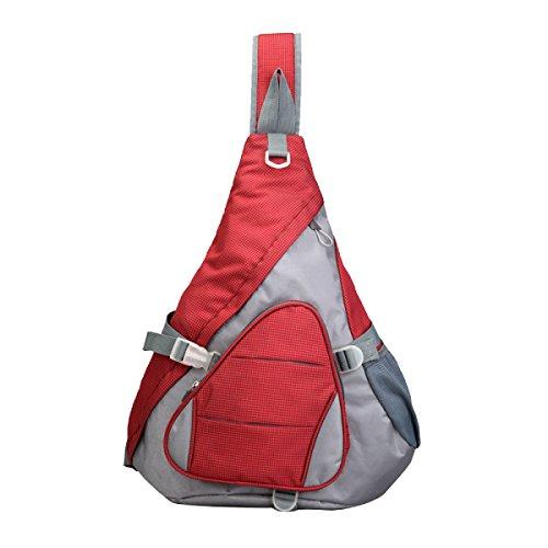 Yy.f Neue Hochleistungs-Brusttasche Mannbeutel Dreieck Stoffschultertasche Pakete Fallen Lassen Die Brusttaschen Taschen Von Mischfarben Erhöhen Red
