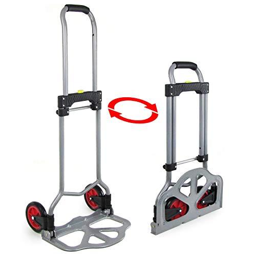 Preisvergleich Produktbild Tenzo-R 33871 Ramroxx Profi Transport Sackkarre Stapelkarre ausziehbar klappbar grau bis 60 kg
