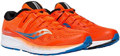 Saucony Ride ISO, Scarpe running uomo, Arancione (Orange/Blue 36), 44 EU