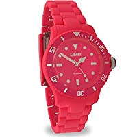 Limit Splash Coral Red Dial Polycarbonate Bracelet Watch 6766