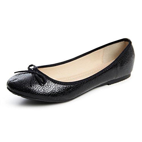 topschuhe24681Femme Ballerine Chaussures basses Noir - Noir