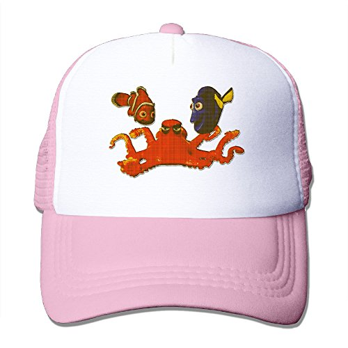 xj-cool-octopus-poisson-tropical-sunbonnet-bonnet-casquette-maille-filet-legere-coque-a-clipser-rose