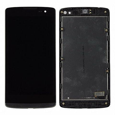 ixuan Pièce de remplacement Vitre Ecran Tactile LCD Assemblé Complet sur Châssis pour LG Leon H340 h320 h324 H340N H326 MS345 (Noir) avec Outiles