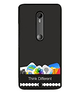 PrintVisa Think Different High Gloss Designer Back Case Cover for Motorola Moto X Style :: Moto X Pure Edition
