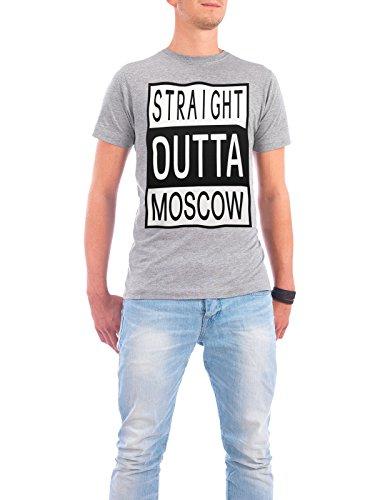 """Design T-Shirt Männer Continental Cotton """"Moskau"""" - stylisches Shirt Typografie Städte Städte / Weitere Reise von David Springmeyer Grau"""