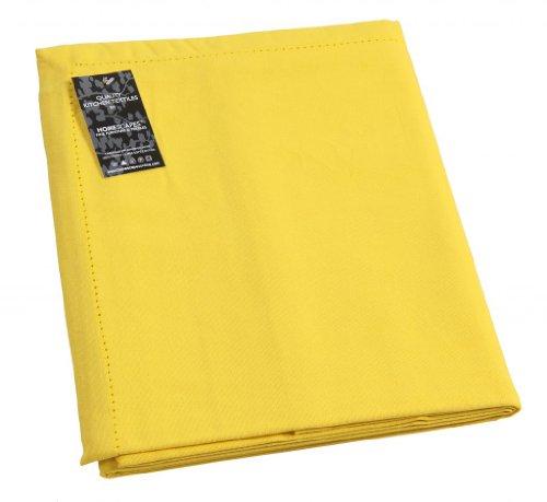 Homescapes–tovaglia gialla tinta unita 140x 140cm in 100% puro cotone, tavolo panno lavabile, cotone, gelb, 140 x 140 cm