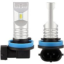 NIGHTEYE 2 × H8 Kit de luz de niebla LED 12V, 800LM, 6500K, DRL Lámpara con chips Philips LED Bombillas de niebla, blanco, 1 años de garantía