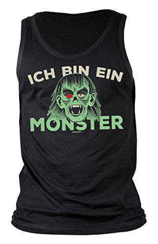 ren Tank-Top Halloween - Ich Bin ein Monster Vampir - Geschenk-Idee zur gruseligsten Zeit Des Jahres - Farbe Schwarz, Größe:M (Vampir Outfits Ideen)