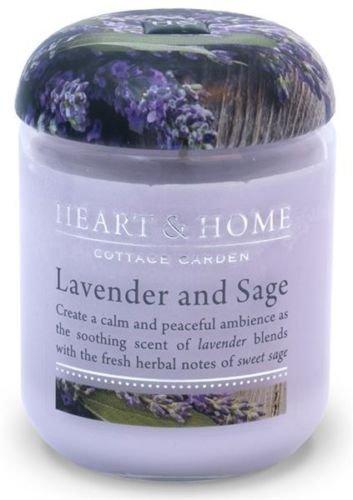 Lavanda & Salvia Cuore e casa candela aromatica profumata in