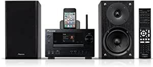 Pioneer X-HM71-K Micro-Hifi-System (WiFi, Apple AirPlay, vTuner, DLNA 1.5, Control App.) schwarz