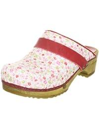Sanita Wood-Katrin open 457919-65 - Zuecos de tela para mujer