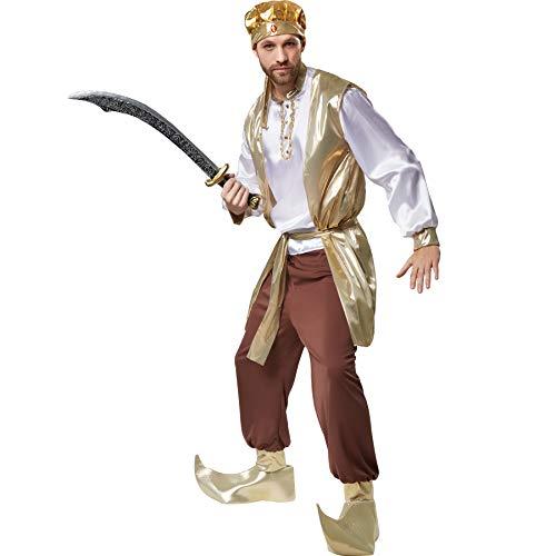 Bollywood Herren Für Kostüm - dressforfun 900527 - Herrenkostüm prächtiger Sultan, Orientalisches Gewand mit vielen goldenen Elementen (M | Nr. 302641)