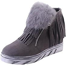 Botines Tacon de Cuña para Mujer Zapatos Plataforma por ESAILQ C