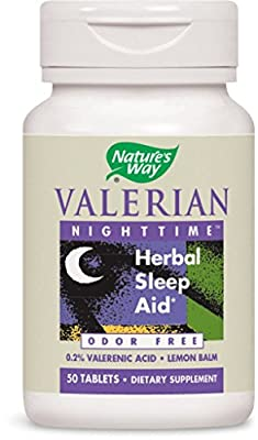 Nature's Way Valerian Nighttime Tablets (50 Tablets) by Natures Way