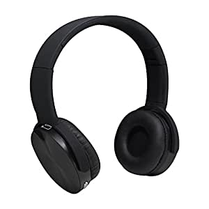 JS-BASE On Ear Over Head Wireless Bluetooth Headphones,Stereo Earphones Build in Microphone Bluetooth Headphones with TF Card FM Radio,Foldable Portable Headsets,3.5MM AUX Cable (Black)