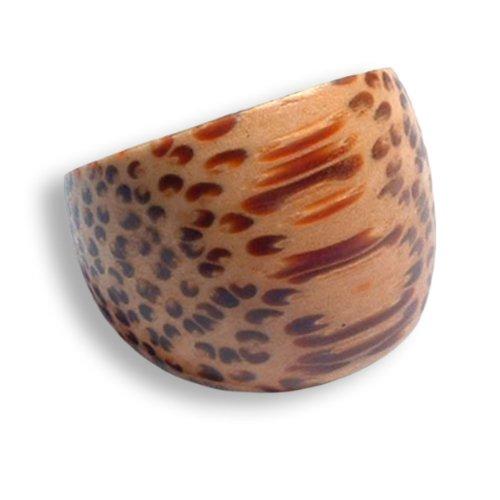 ISLAND PIERCINGS Design Ring aus Kokos Holz Holzring 12mm breit Handarbeit AR023-19mm