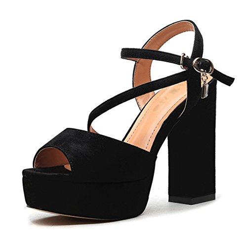 Chaussures femme HWF Sandales Femme Eté Femme Chaussures Talons Hauts