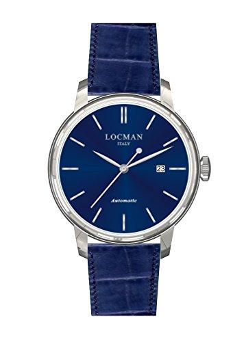 Locman 1960 Automatic / orologio unisex / quadrante blu / cassa acciaio / cinturino pelle blu