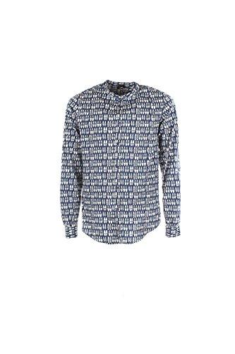Camicia Uomo Imperial Xl Blu/bianco Czo3sqnl Autunno Inverno 2016/17