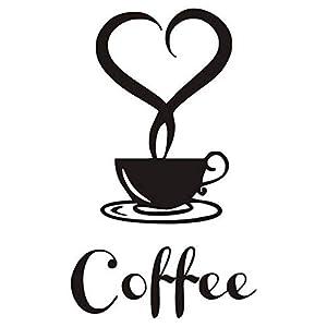 Gaoominy 1 x Adesivi per Tazza di Caffe' / Adesivi murali per Cucina con Tazze di Caffe' per la Decorazione Domestica…