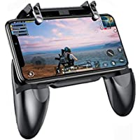 W-10 Gamepad Mobile Game Controller and Trigger for PUBG/Fortnite/Rules of Survival Gaming Grip and Gaming Joysticks for 4.5-6.5inch Android Mobile (Black) by Suckey