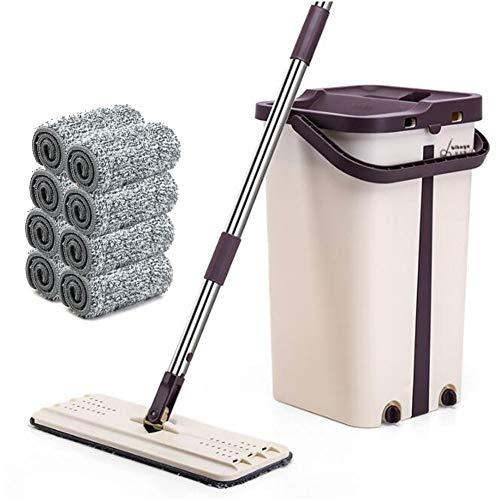 L@CR Flacher Mopp und Mopp-Eimer, Selbstwaschender und Squeeze Floor Mop, Freihandwaschender 360-Grad-Mop Perfekt für die Nass- und Trockenreinigung,Type3 -