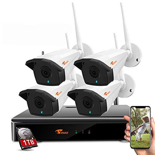 CORSEE H.265 + Kit Camaras Vigilancia Wifi