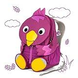 Affenzahn Kinderrucksack mit Brustgurt Viola Vogel für 3-5 Jährige Jungen und Mädchen im Kindergarten oder Kita - Lila