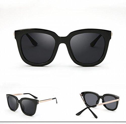YL Outdoor Anti-UV-Sonnenbrille Rund weiblich Face Retro Sonnenbrille Polarisierte Sonnenbrille Stecker Augen, 1