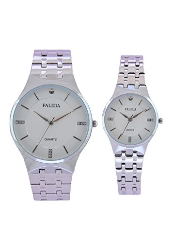 Faleda P6168CHW Standred Analog Watch For Couple