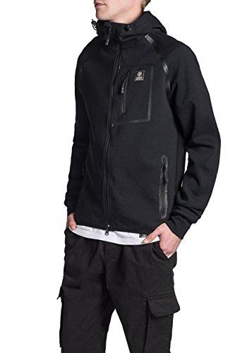 Franklin & Marshall - Sweatshirt FLMLA150AMW16 für mann, mit zwei taschen 0021 - BLACK