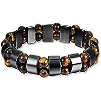 Preisvergleich für Magnetic Bracelet Unisex Hematite Stone Bangle for Weight Loss Slimming Healthy Care Men Women Jewelry